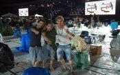 I tre musicisti erbesi alle prove allo stadio di Cesena