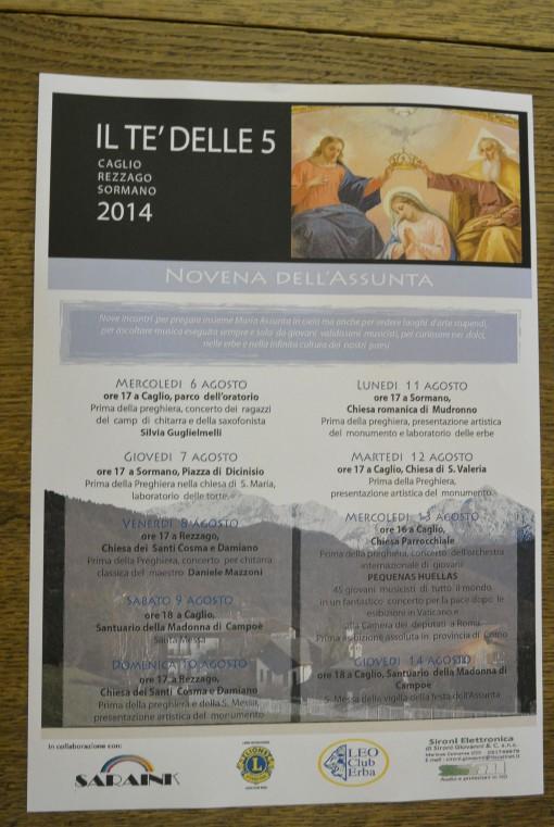 Programma il te delle 5 caglio rezzago sormano luglio agosto 2014 comunia pastorale madonna di campoe (5)
