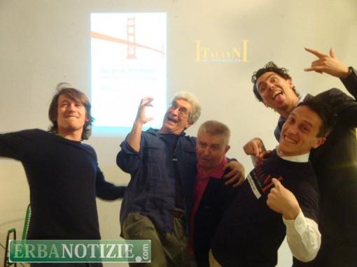 Da sinistra, Enrico Zappa, Roberto Bonzio, Tiberio Roda, Giorgio Zappa