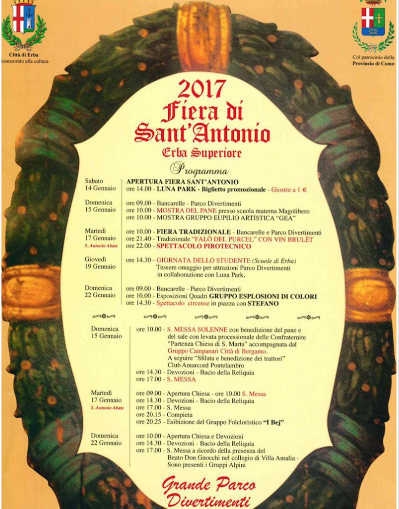 Fiera Erba Calendario.Erba Torna La Fiera Di Sant Antonio Ecco Gli Appuntamenti
